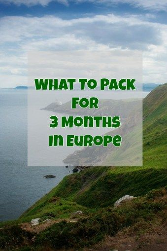 The Ultimate Packing List for Europe! Find out what to pack for 3 months in Europe in the Winter/Spring!