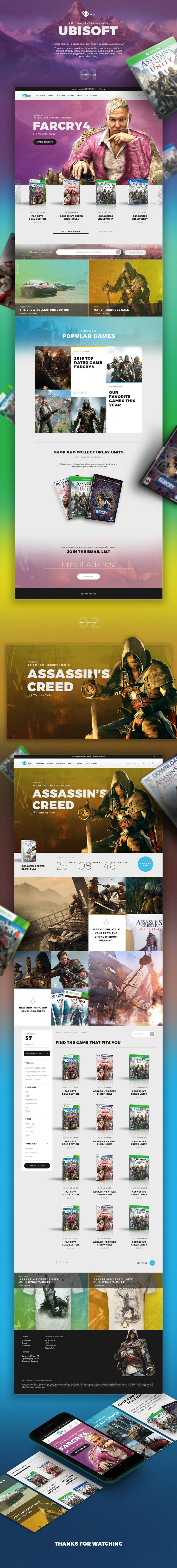 Ubisoft Web Design on Behance