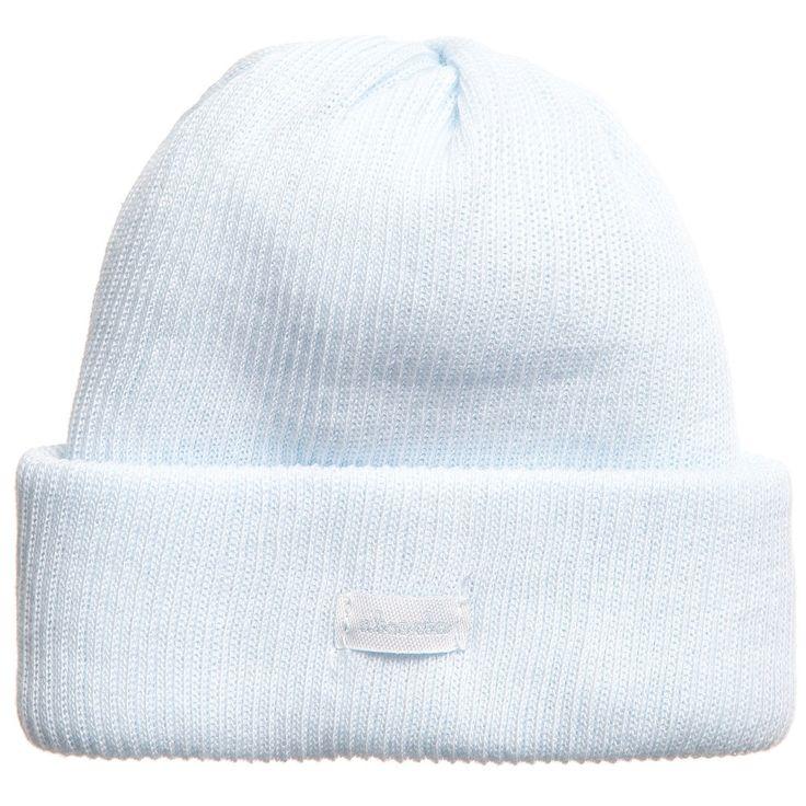 ABSORBA Blue Organic Cotton Baby Hat