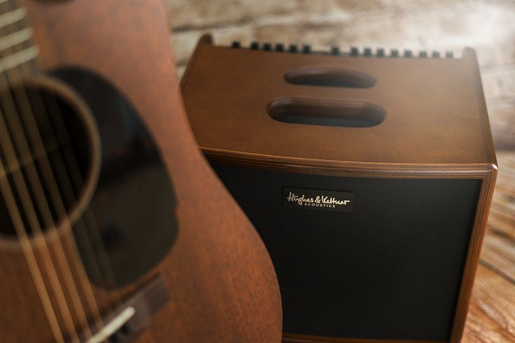 The Hughes & Kettner era 1 acoustic amplifier and our trusty Martin cutaway dreadnought guitar!
