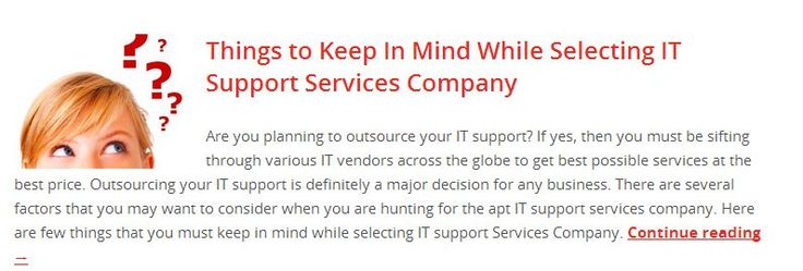 Things to Keep In Mind While Selecting IT Support Services Company Read to know more, http://www.serversentry.com.au/things-to-keep-in-mind-while-selecting-it-support-services-company/