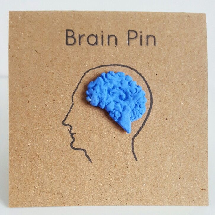 Blue brain lapel pin! Coming to an online Etsy store near you...
