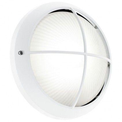 EGLO SIONES LED Außen Wand & Deckenleuchte, 1x GX53, IP44, weiss, 93263