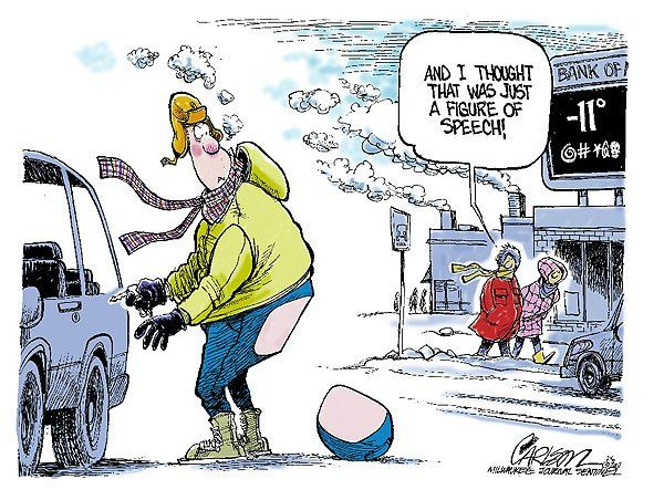 Funny Cold Weather cartoons for facebook | Re: A little winter humor