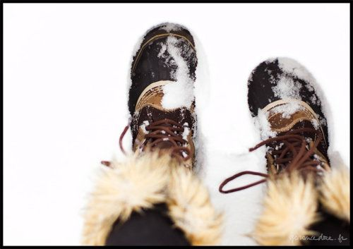 Sorel boots for very heavy weather.