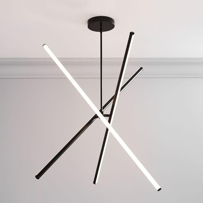 Light Rods LED Chandelier (55″)