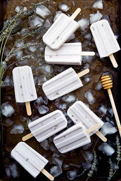 Honey Lavender Popsicles - Perfect for summer, and at only 67 calories each, they won't kill your beach bod either!