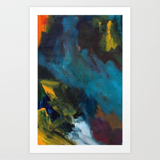 """""""Explosions Underground"""" abstract art by Leanne Simpson. This artwork is available at Society6 as an art print, phone case, tote bag and more! https://society6.com/leannesimpsonart"""