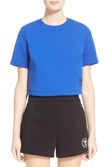 T by Alexander Wang Bonded Neoprene Logo Top (Nordstrom Exclusive) available at #Nordstrom