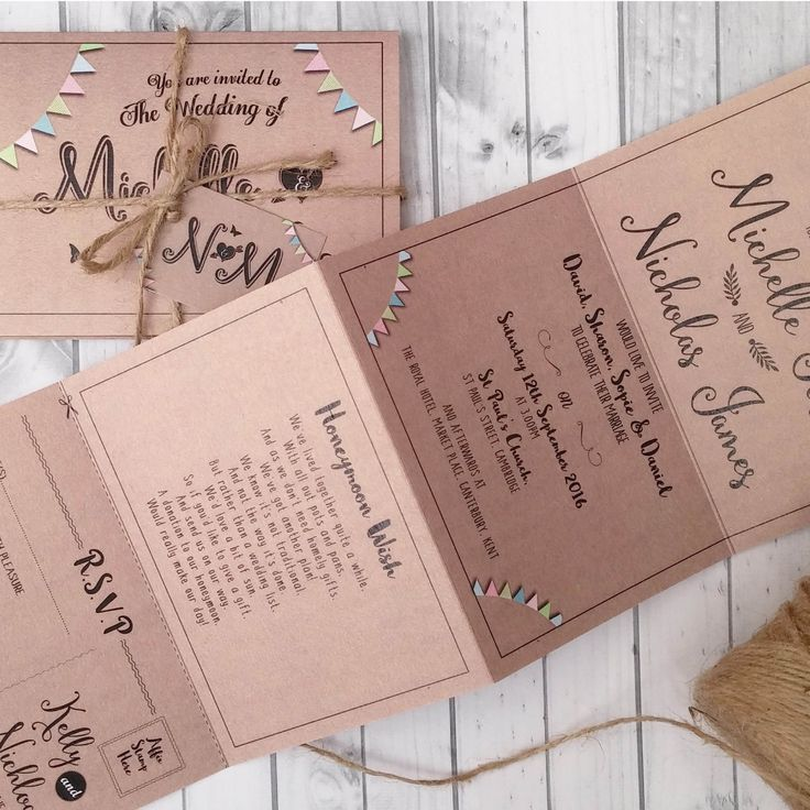 Personalised Wedding Day or Evening Invitations Invites