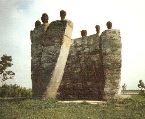 Herman Makkink | Negen leunblokken | Almere 1990