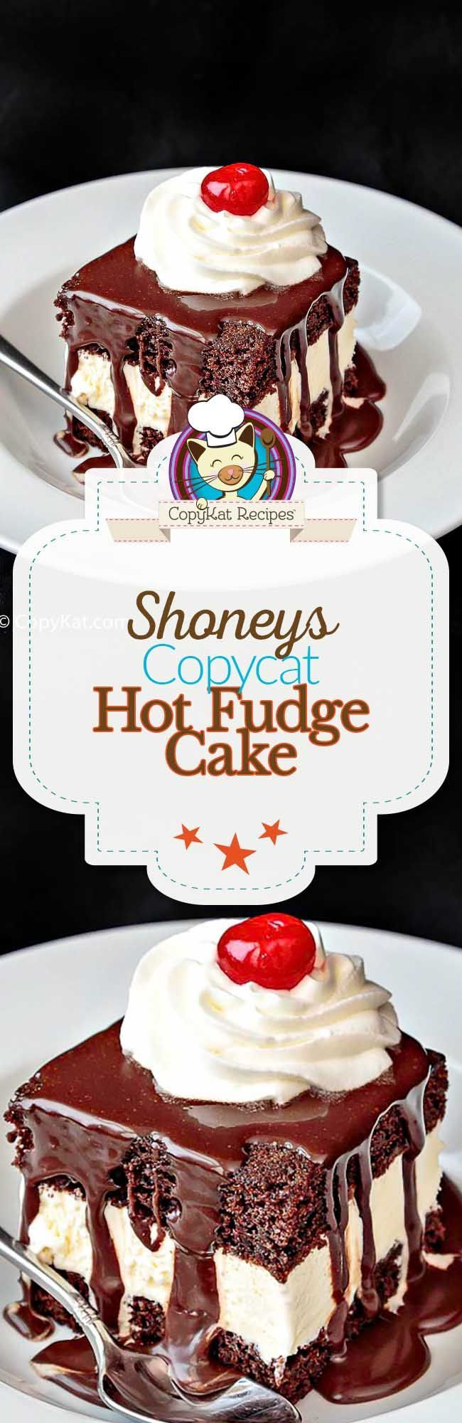You can recreate the famous Shoney's Hot Fudge Cake at home with this easy copycat recipe.
