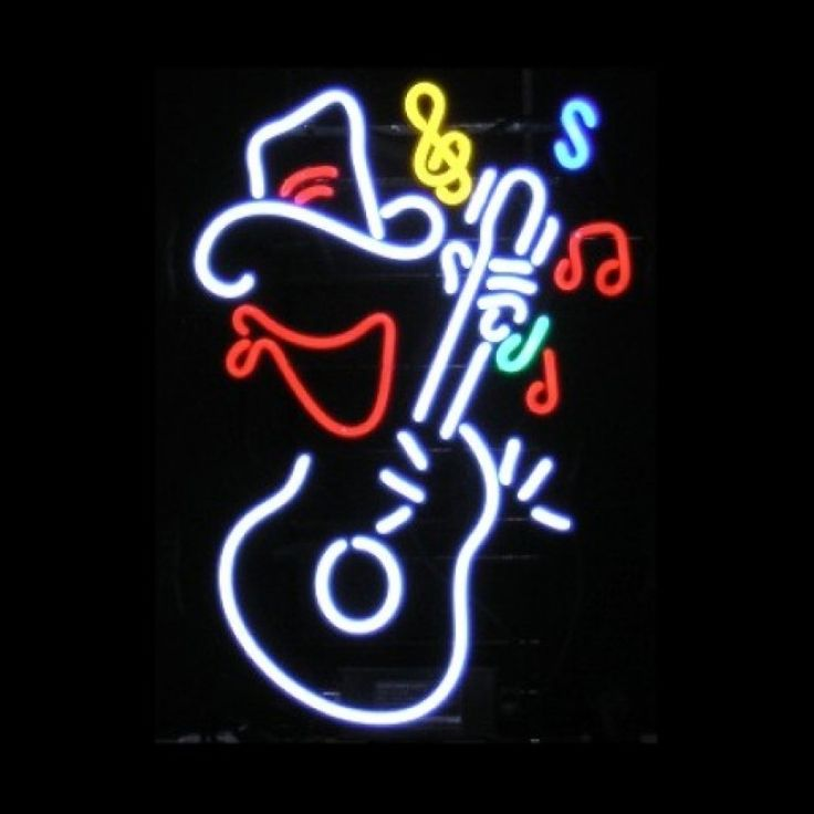 Neon Bar Sign - Guitar Cowboy