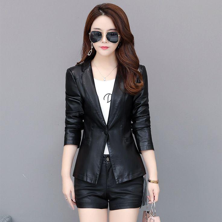 leather blazers women 3