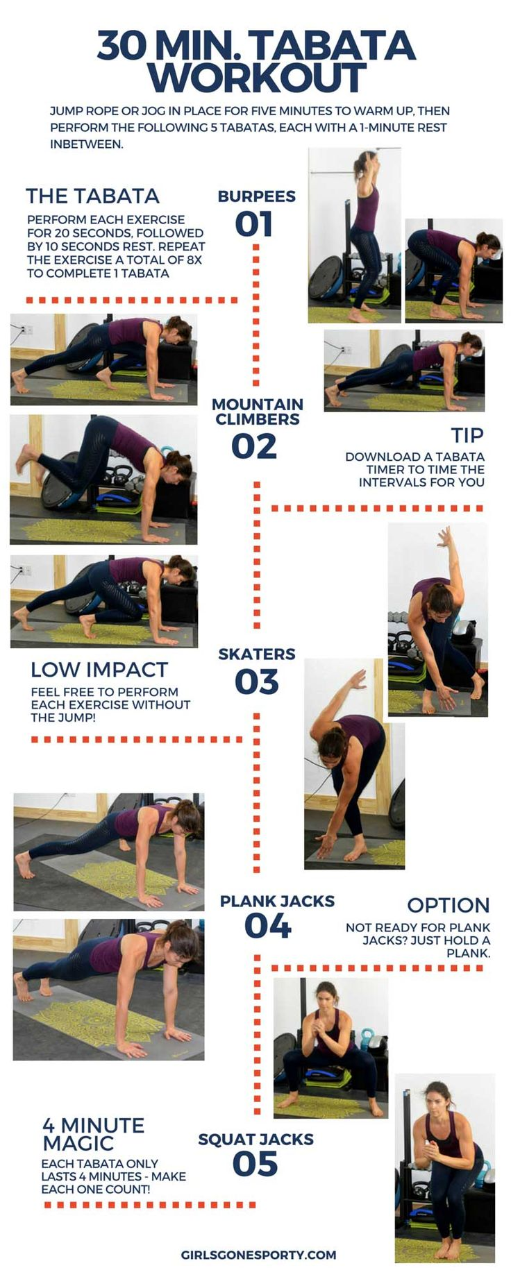 30 minute tabata workout