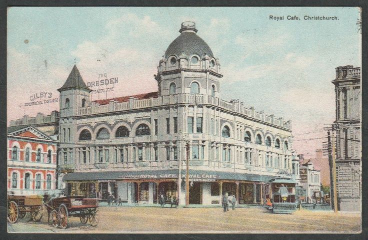 Early 1900's. Royal Cafe, Christchurch, New Zealand