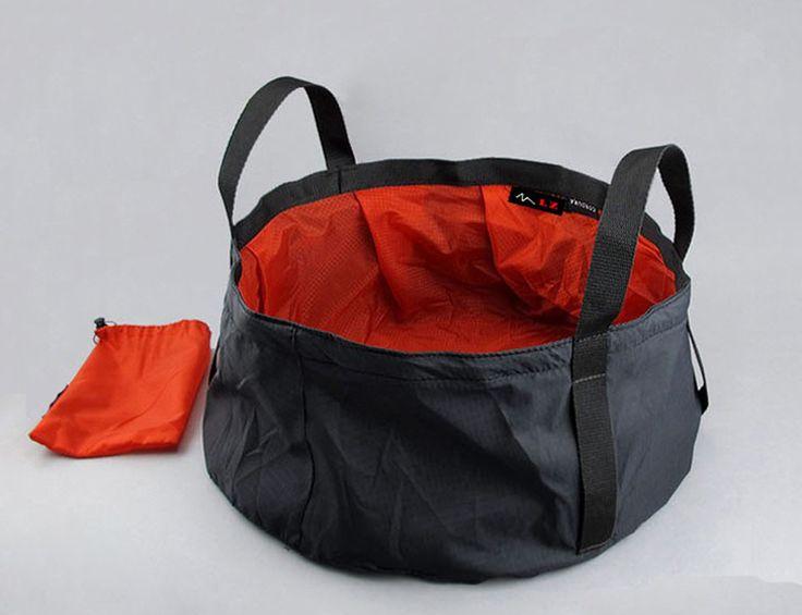 Cheap 8.5l ultra  luz exterior de nylon portátil lavabo de agua plegable bolsa de lavado secado rápido baño de pies de camping picnic pesca azul/rojo, Compro Calidad Kits de Viaje directamente de los surtidores de China:                                                                                             8.5l ultra- luz al air