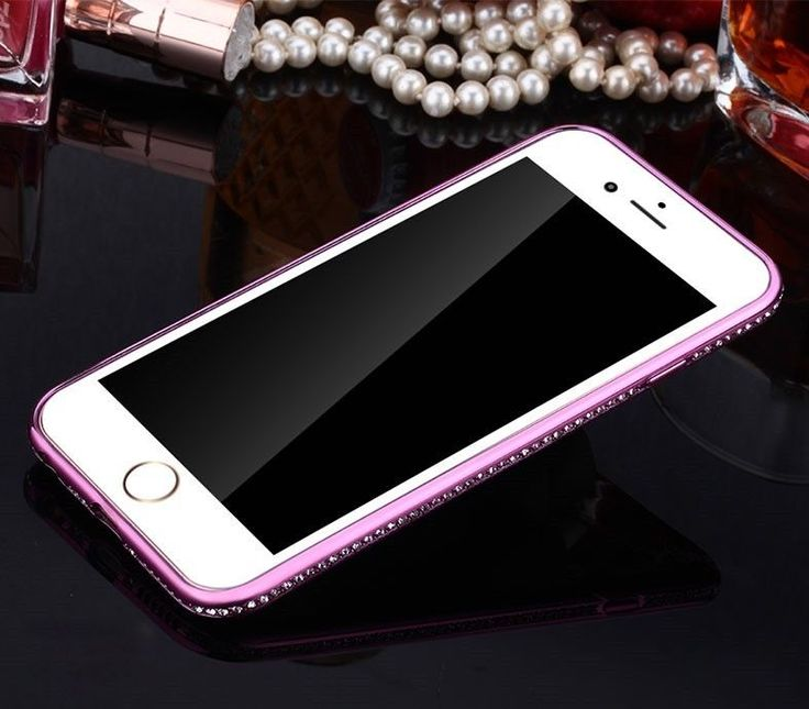 Strass Schutzhülle iPhone 7 rosa Glitzer TPU Silikon Handy Case