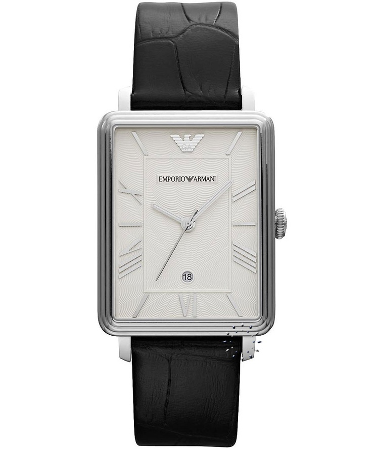 Emporio Armani Classic Black Leather Strap, 209€ http://www.oroloi.gr/product_info.php?products_id=33550