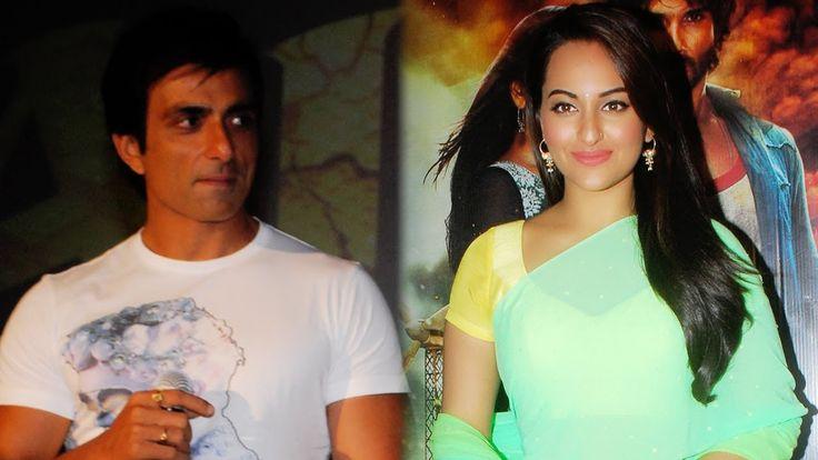 Sonakshi Sinha & Sonu Sood at 2nd trailer launch of Film R Rajkumar at PVR ECX in Mumbai