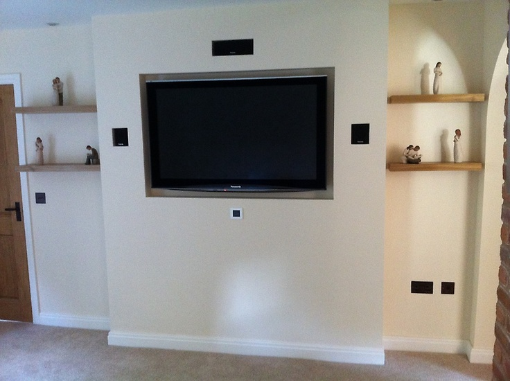 Bespoke Wall Made For A 50 Quot Panasonic Tv Tv Wall