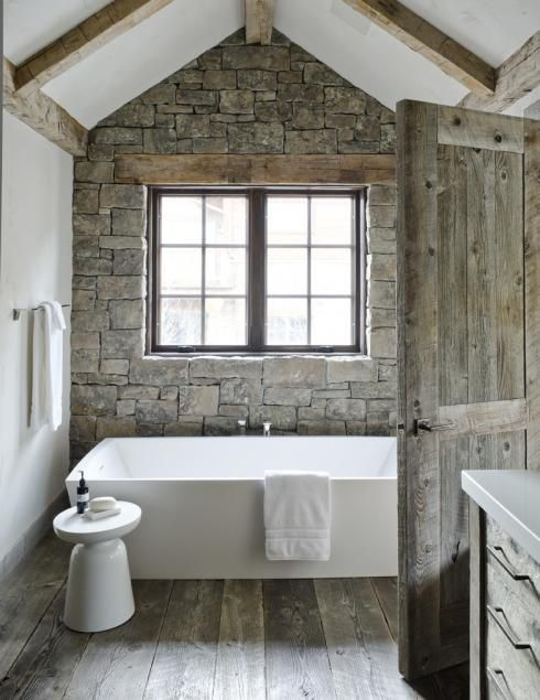 Simple, neutral toned bathroom with authentic western appeal