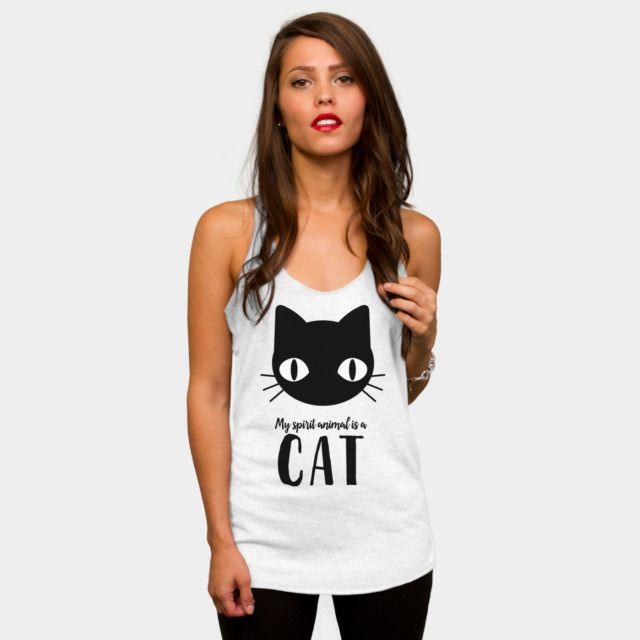 My Spirit Animal Is A Cat Tank Top By Tanyadraws Design By Humans