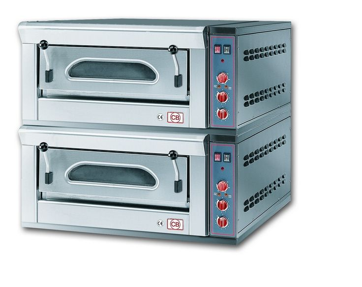 2/FP4M Forno pizza elettrico manuale con refrattario in pietra lavica. www.cb-italy.com