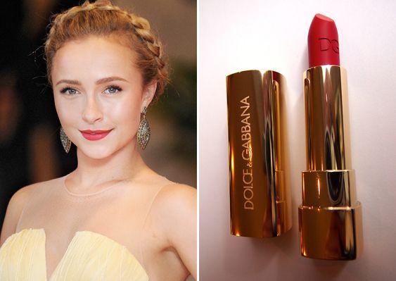 2014 Bridal Makeup Trends – Pop Colour Lips - Dolce & Gabbana in Scarlett 195.