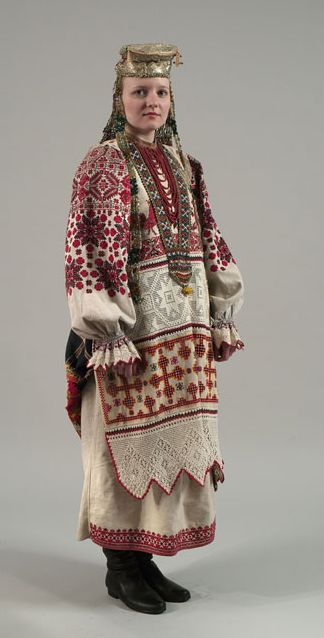 19th century ethnic costume, Arkhangel'sk.