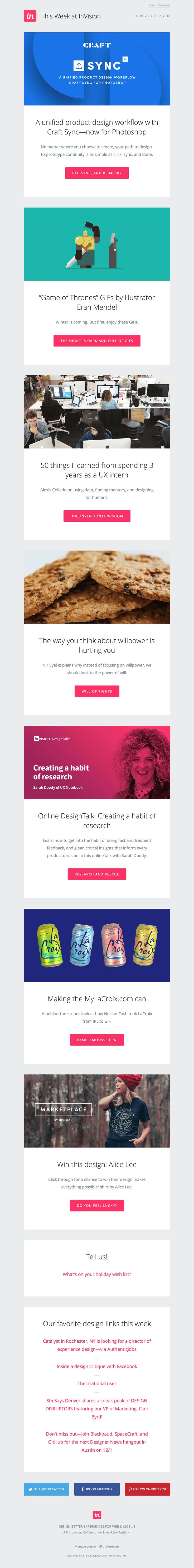 Newsletter responsive Invision (approche mobile first)
