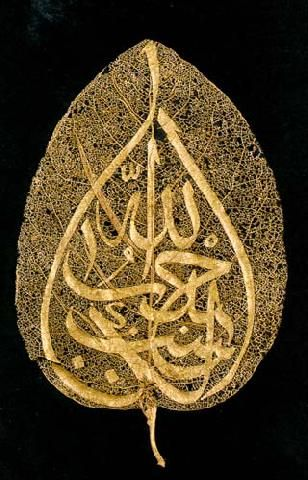 Islamic Calligraphy & Leaves