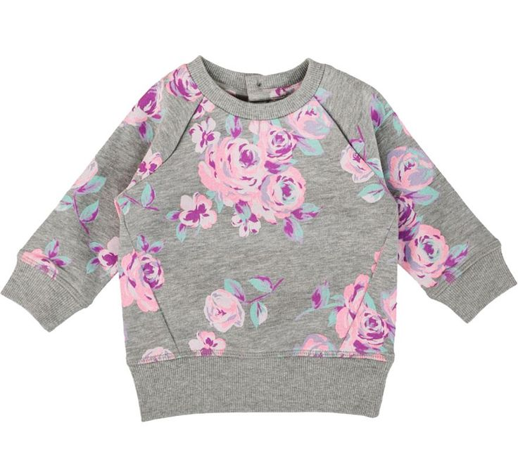 Sweat top with all over floral print. Postie
