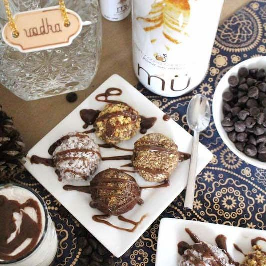 Drunken Truffles Washed Down with a Double Chilled mü Cappuccino – Craft Box Girls