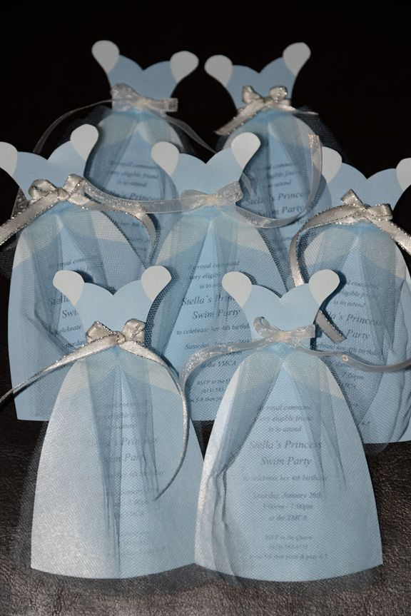 Stellas Cinderella party invitation