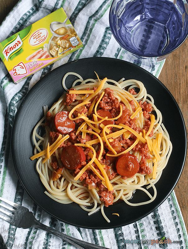 Sweet Style Spaghetti with Knorr Pork Broth Cubes