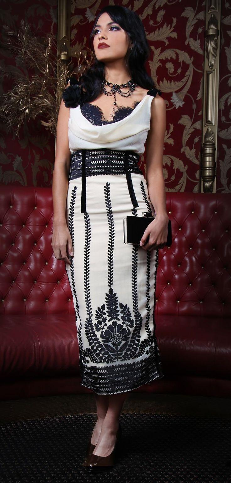 Notre Dame Cowl Dress
