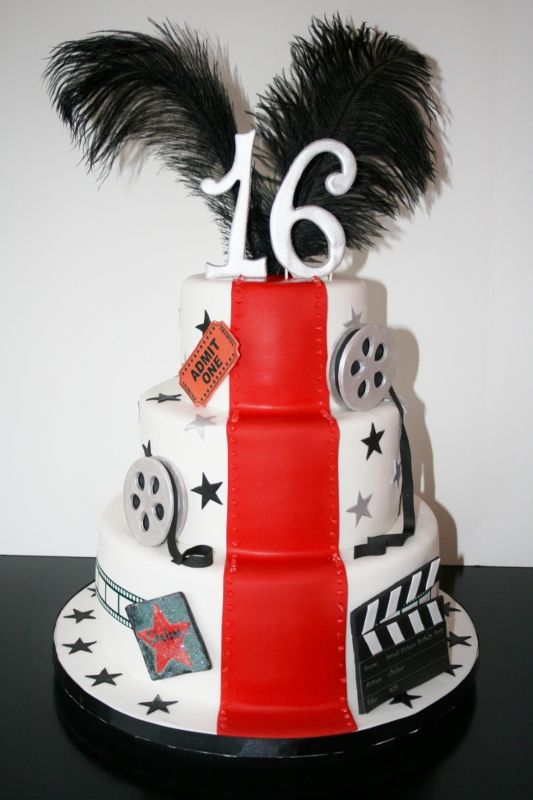 hollywood theme party | Hollywood Themed Sweet Sixteen Cake: NJ Specialty Cakes @ Sweet Grace ...