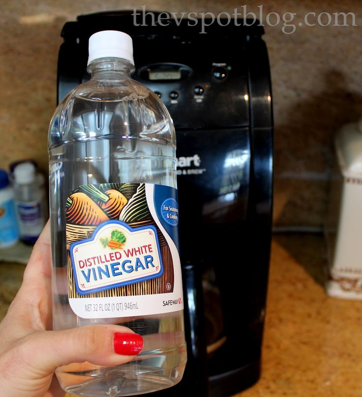 Clean your coffee maker using vinegar. Yesterday it dawned on me that I don't clean my coffee maker as often as I should. Without a good cleaning every now and again, your coffee maker won't operate efficiently and you just aren't going to get the best cup of joe that you can. You don't need …
