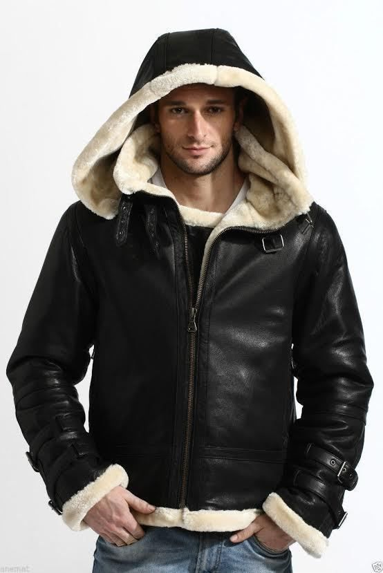 In this winter make yourself comfortable and warm with our slick outfit. This is B3 Bomber full fur real sheepskin shearling leather jacket. The jacket is made up of real sheepskin with full fur detachable hood and has inward shearling fur that keeps you warm in freezing temperature. The B-3 Jacket reviews pictures of the daring aircraft groups who kept an eye on the B-17s and B-24s in the skies over Europe amid WWII. Place your order now gets this warm jacket at best price