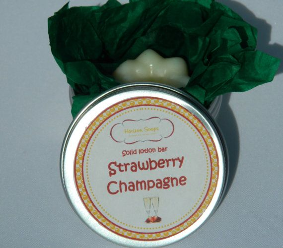 Massage bar / Solid lotion bar Strawberry van HorizonSoaps op Etsy