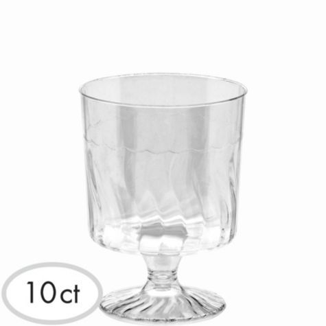 Mini Clear Plastic Pedestal Cups 5oz 10ct Party City