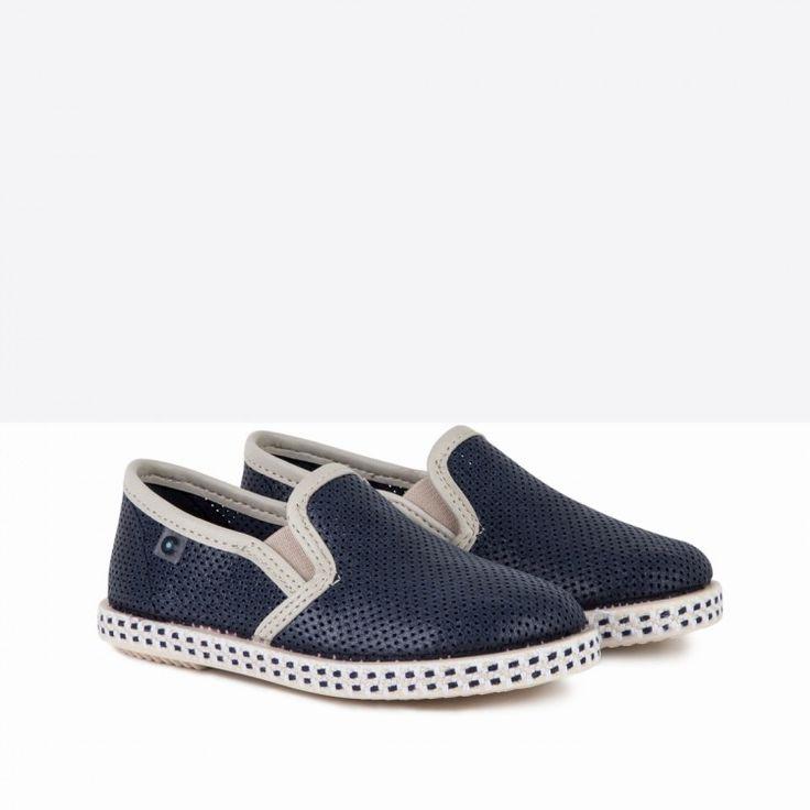 Zapatos de Niño Picados Azul - Calzado - Niño - Conguitos #conguitos #niño #shoes #collection #ss18 #zapatos #picados #azul