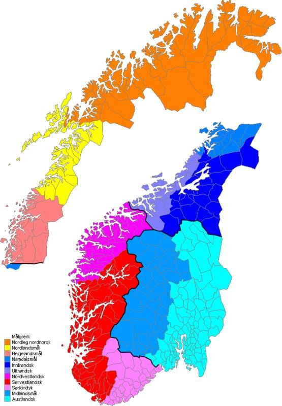Best Languages Images On Pinterest Languages Cartography And - Norway language map
