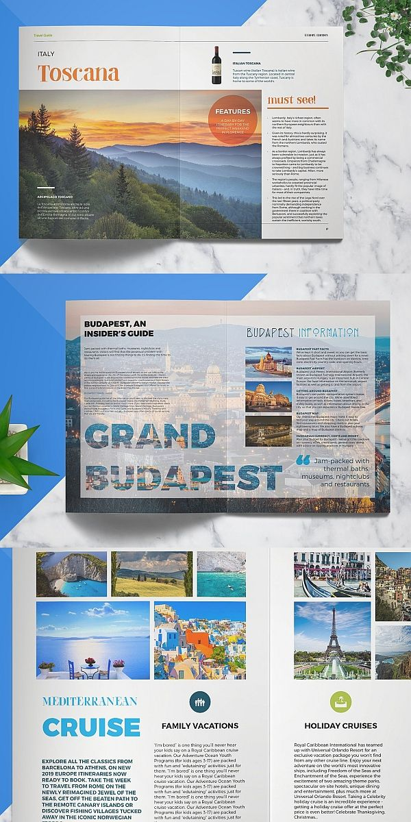 Travel Guide Travel Magazine Layout Travel Guides Layout