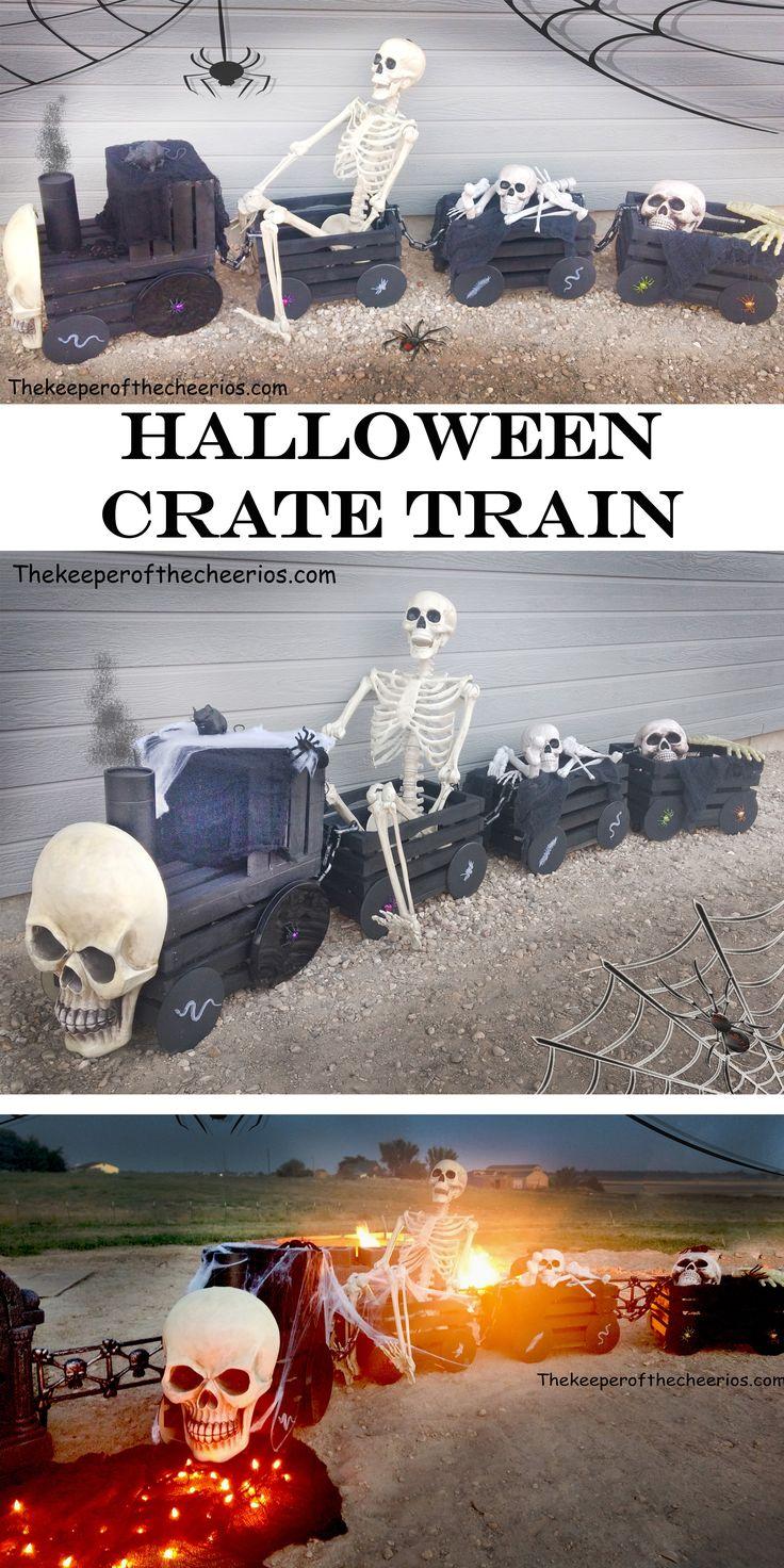 Halloween Haunted Express Crate Train