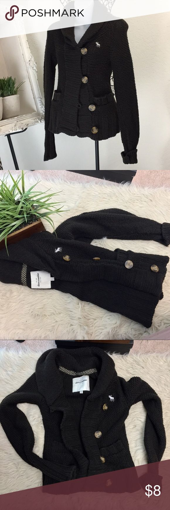 """abercrombie kids XL girls brown sweater Abercrombie xl brown sweater. In good condition- some slight wear / light pilling. But overall still in good shape! Super cute! Shawl collar: 13"""" pit to pit approx 21"""" length. abercrombie kids Shirts & Tops Sweaters"""