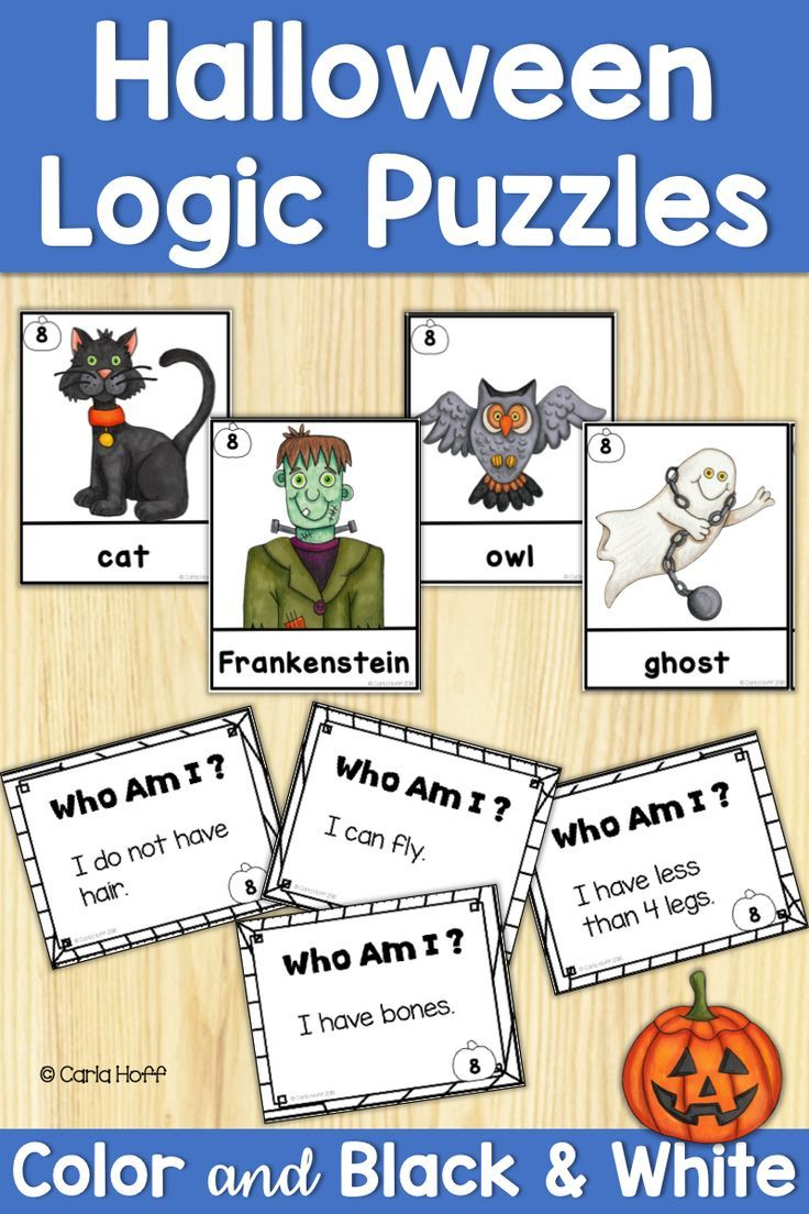 Halloween Logic Puzzles for Beginners Logic puzzles, Fun