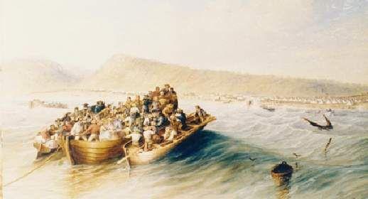 1820 Settler landing [Thomas BAINES 1852]