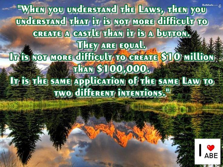 Cuando entiendes las leyes, entonces entiendes que no es más difícil crear un castillo de lo que es un botón.  Es lo mismo.  No es más difícil crear $ 10 millones que $ 100.000.  Es la misma aplicación de la misma ley a dos intenciones diferentes.